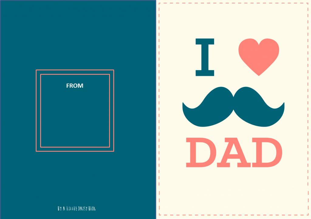 Carte à imprimer fête des pères