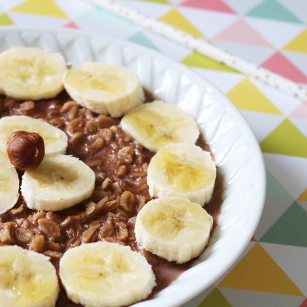 recette porridge chocolat banane