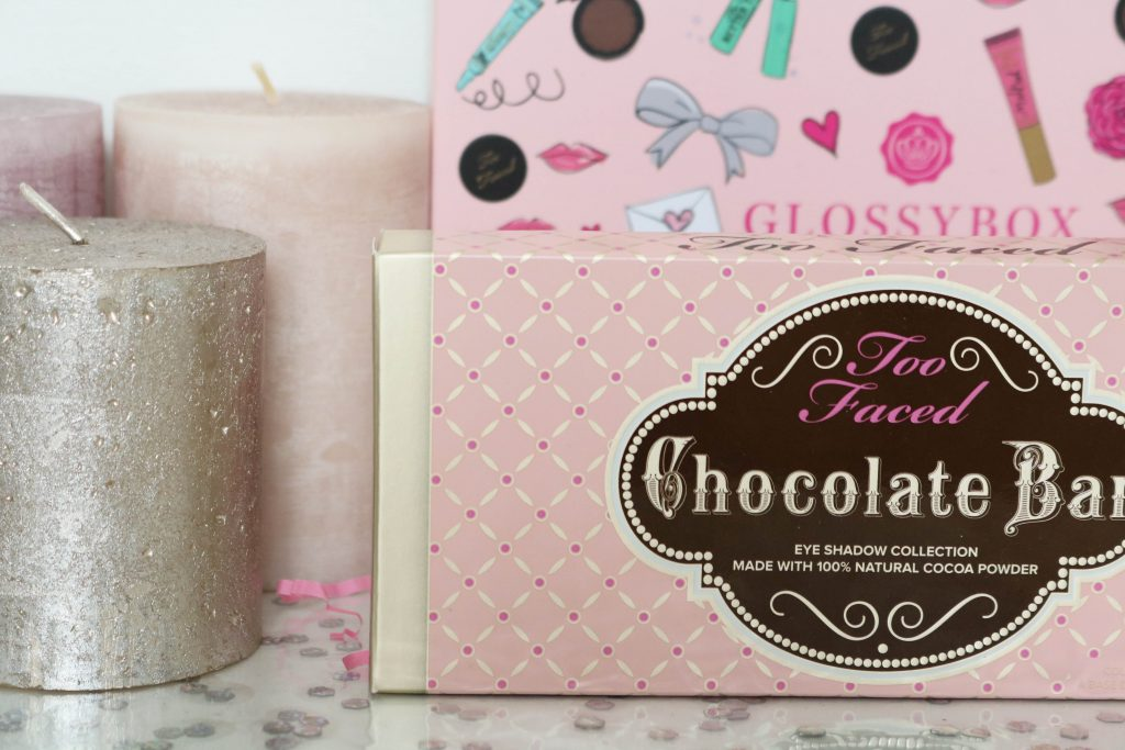 glossybox toofaced palette chocolate bar
