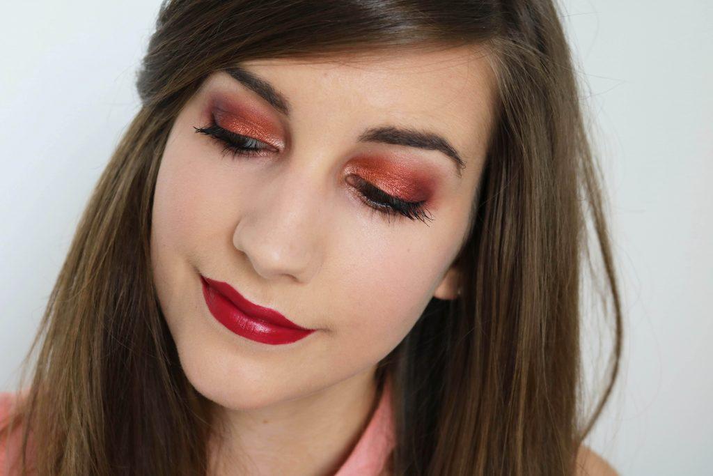 warm orange makeup monday shadow challenge