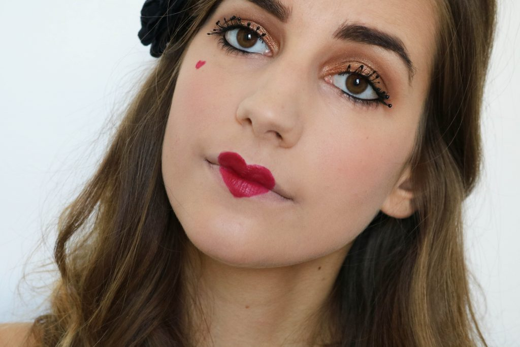 maquillage reine de coeur