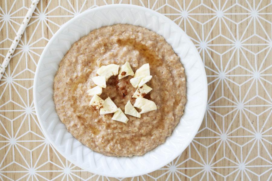 recette porridge automnal cannelle pommes