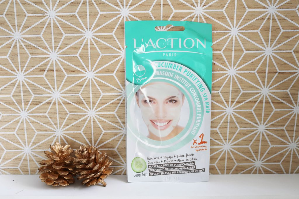 Masque concombre purifiant L'Action Paris
