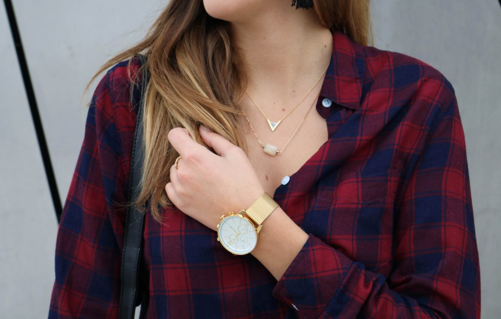 chemise à carreaux stye bucheron look mode