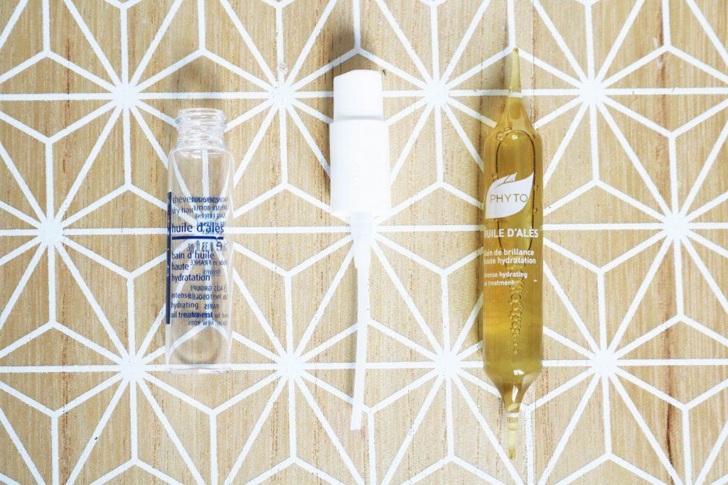 Cure hydratation cheveux huile d'alès Phyto