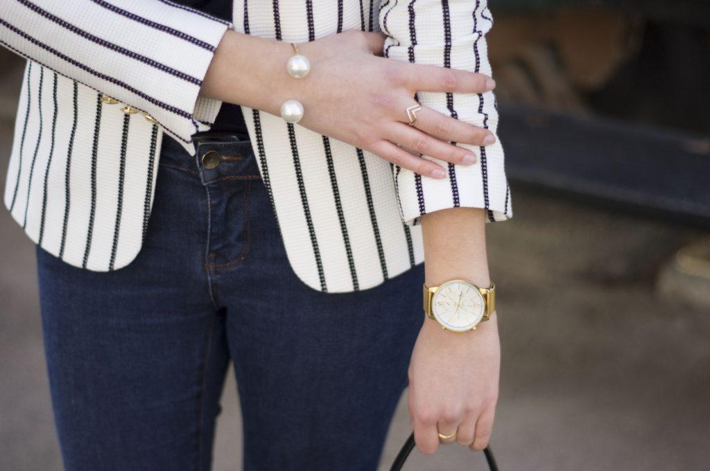 Look mode : La veste de blazer rayée