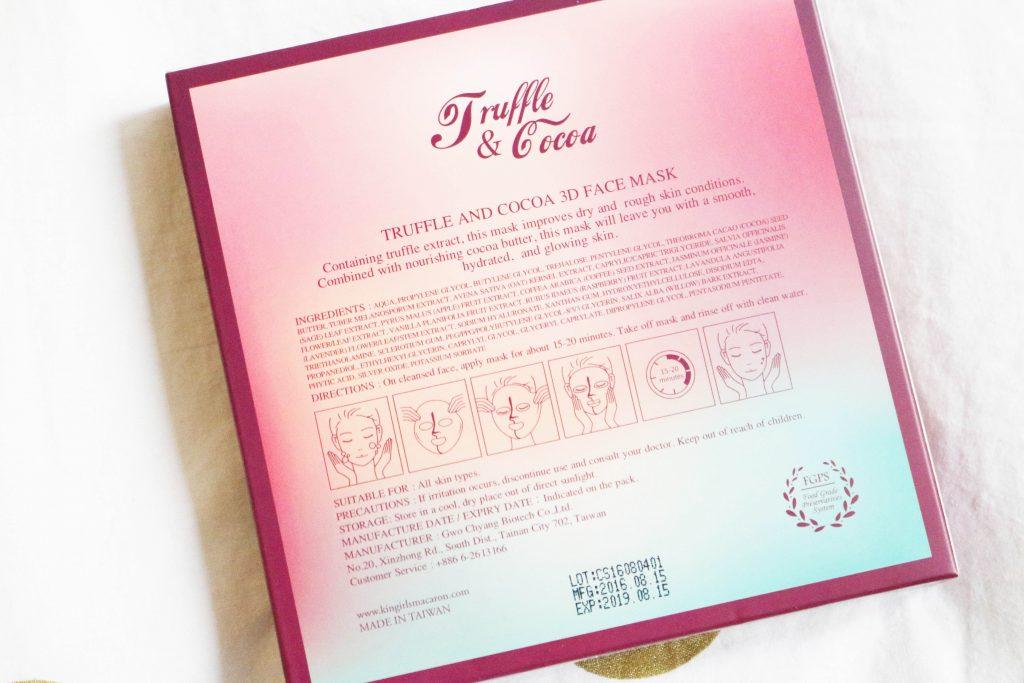 Masque 3D cacao truffle Kingirls