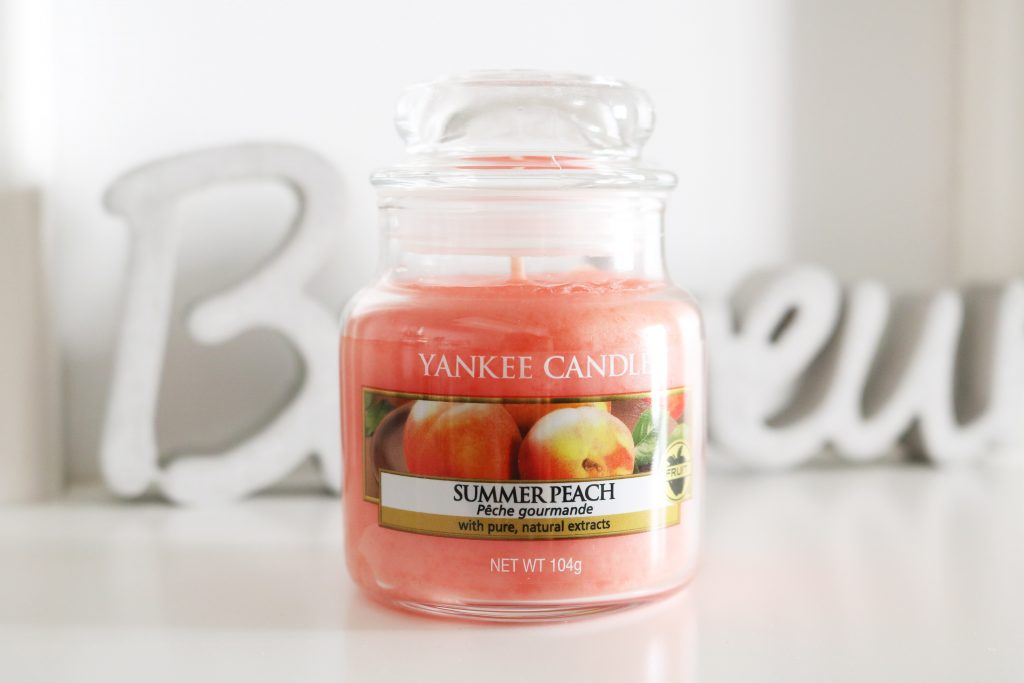 Coups de coeur bougie summer peach Yankee Candle