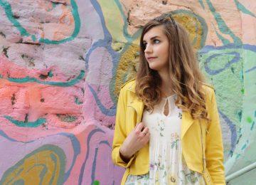 Look printemps veste jaune blog mode lyon
