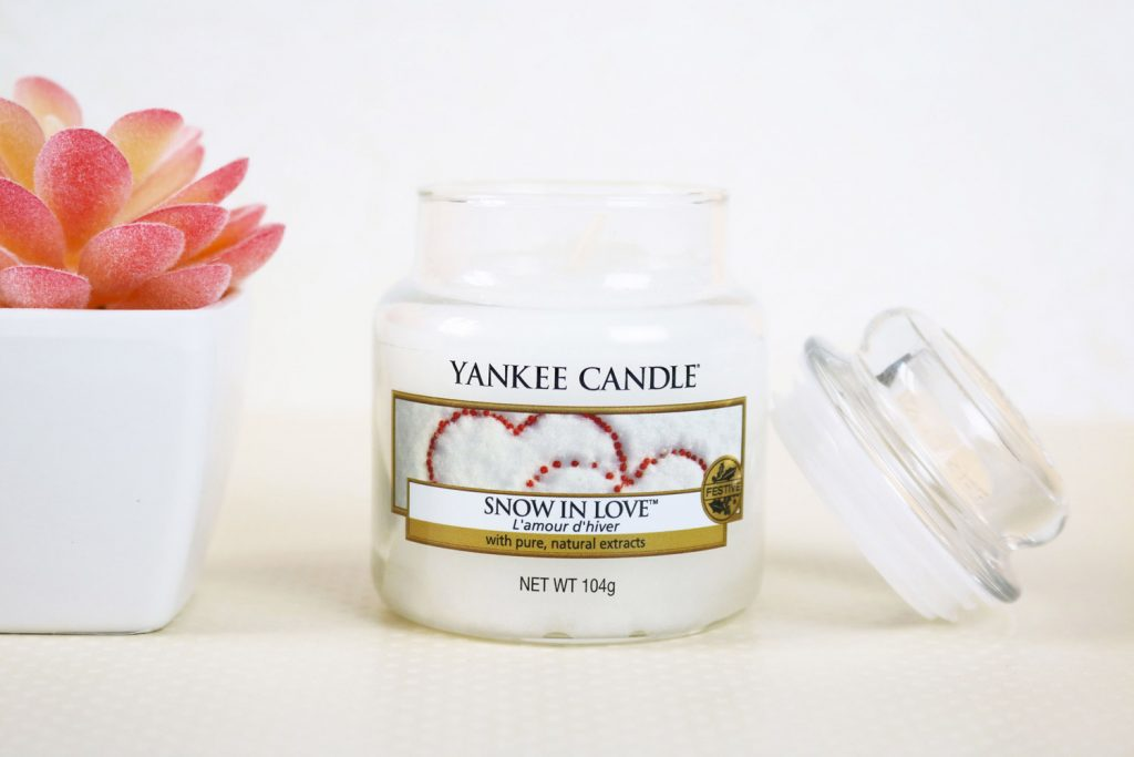Bougie Yankee Candle Snow in love