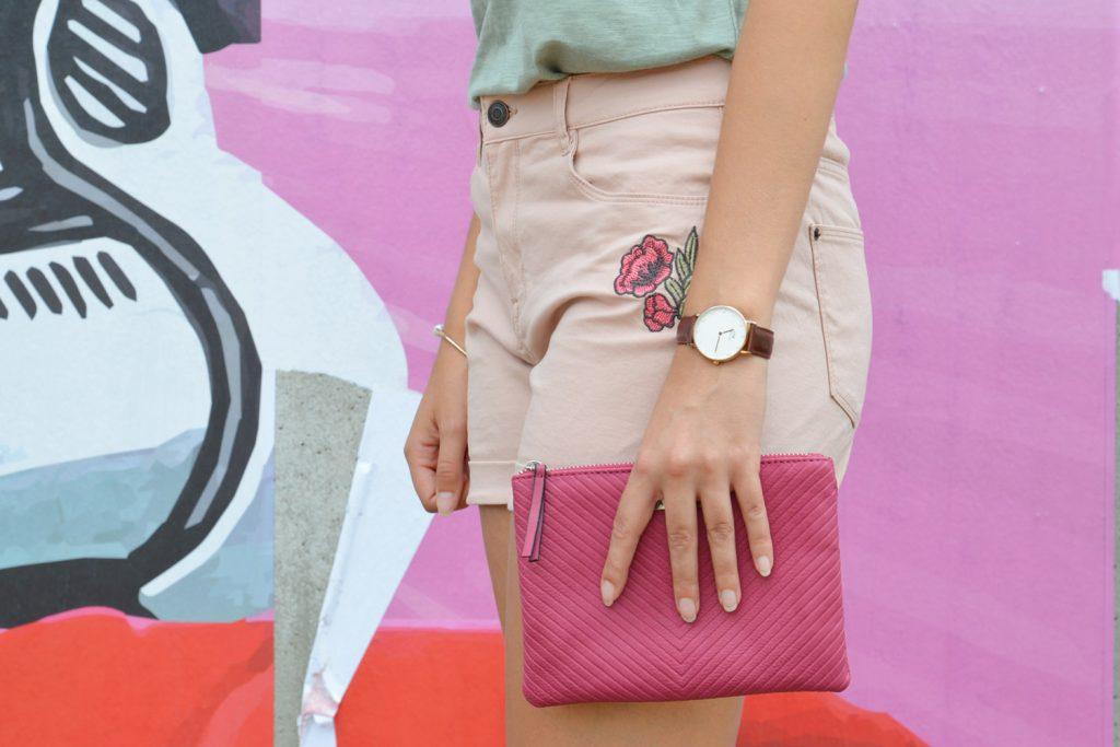 Look kaki et short rose, blog mode lyon