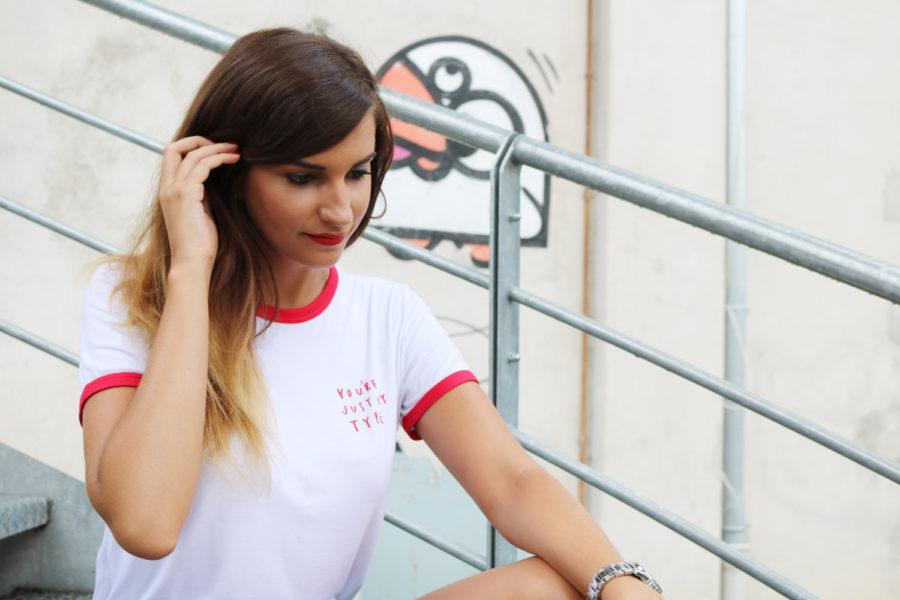 Look de rentrée slogan t-shirt blog mode lyon