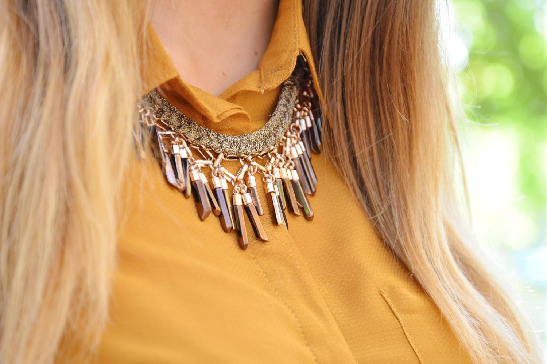 Look automne collier bora fringe stella & dot blog lyon