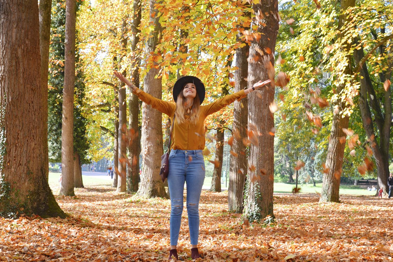 Look automne jeté de feuilles mortes blog lyon