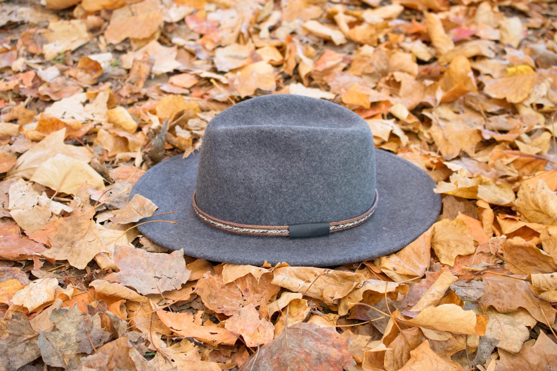 Look automne chapeau gris feutre de laine bon clic bon genre lyon