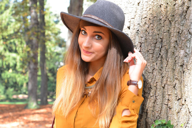 Look automne chemise jaune moutarde bonobo