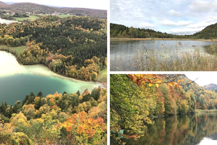 Paysage d'automne dans le Jura