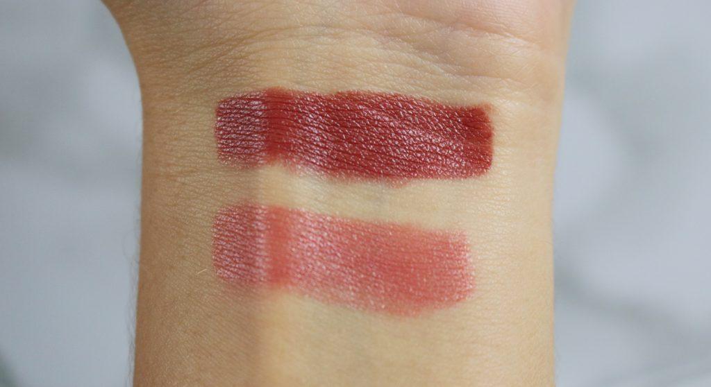 Swatch rouges à lèvres repulpants Le Rouge Essentiel de Dr Pierre Ricaud