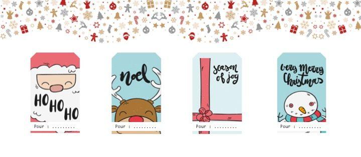 Etiquettes pour cadeaux de Noël à imprimer - Planche 3