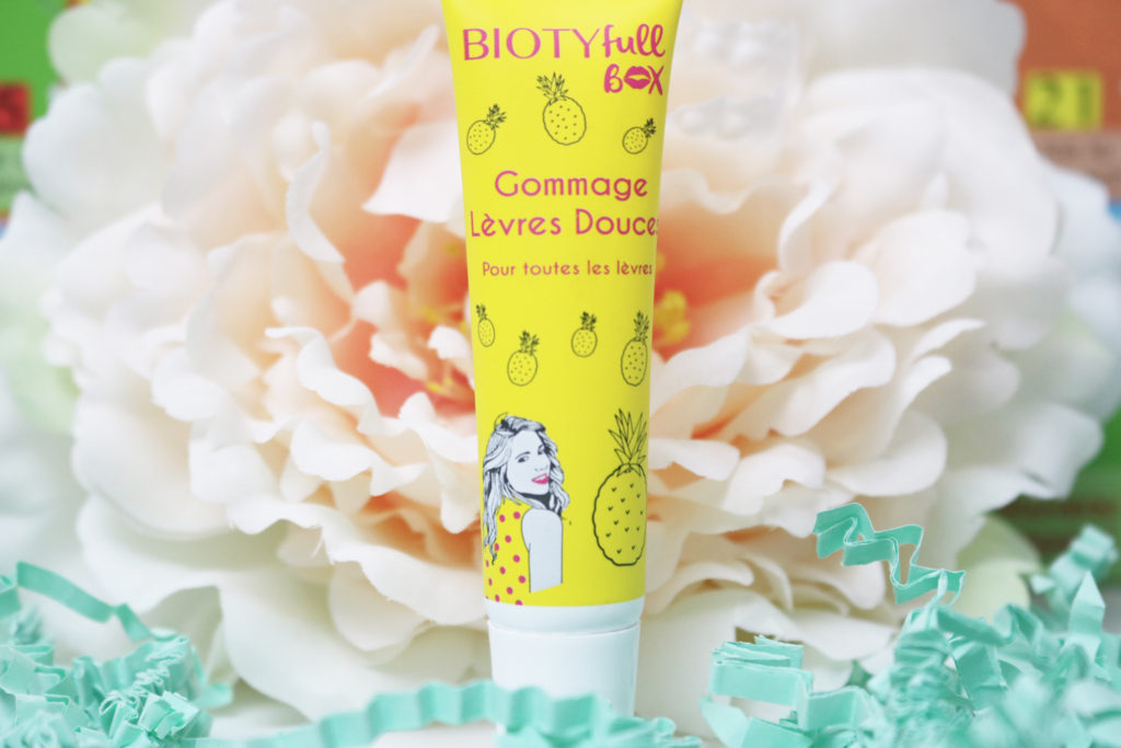 Gommage pour les lèvres ananas - BIOTYFULL BOX