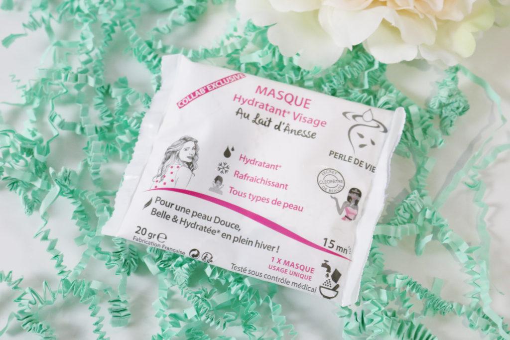 Masque hydratant au lait d'ânesse - PERLE DE VIE Biotyfull Box