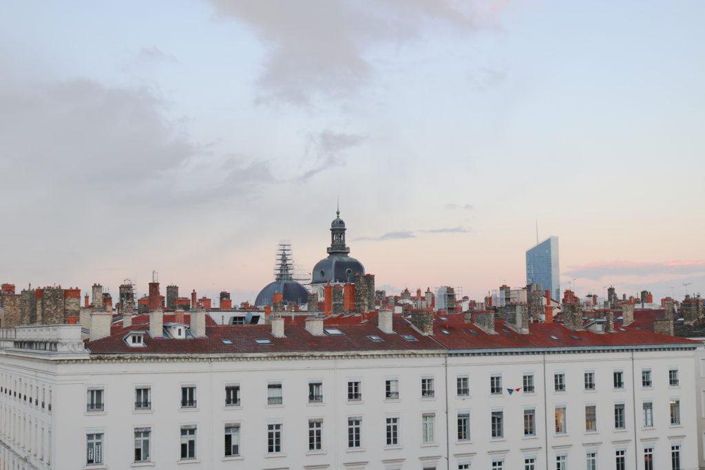 Vue toits de Lyon hôtel Le Royal - MGallery By Sofitel