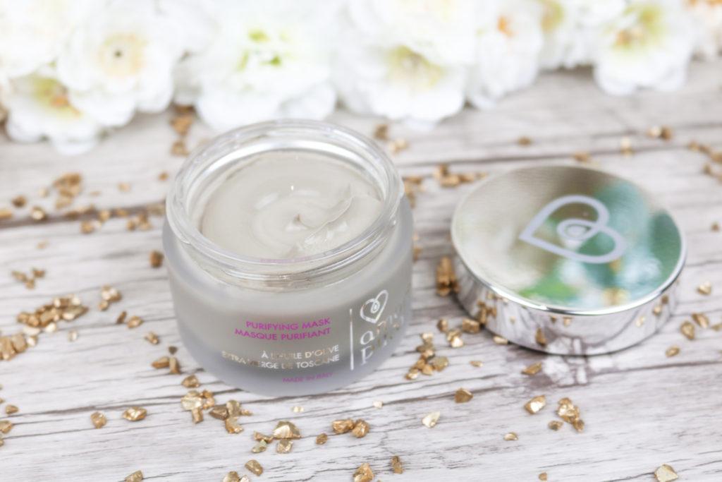 Masque purifiant Amore Puro cosmétiques bio et cruelty free à base d'huile d'olive