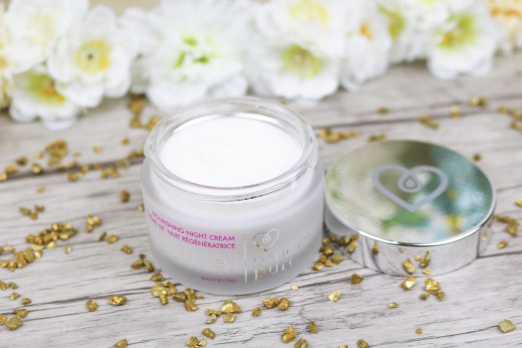 Crème de nuit Amore Puro cosmétiques bio et cruelty free à base d'huile d'olive