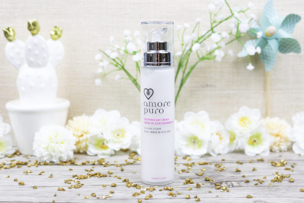 Crème de jour Amore Puro cosmétiques bio et cruelty free à base d'huile d'olive