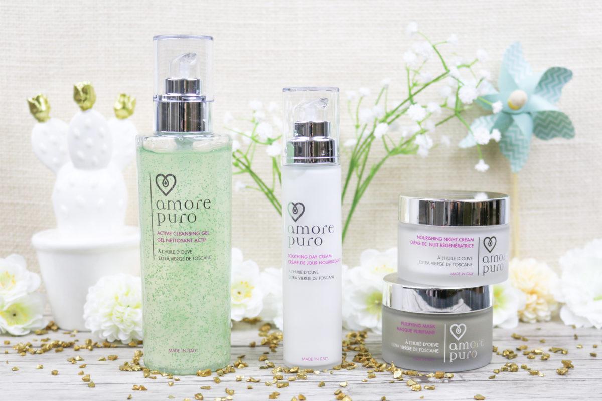 Amore Puro cosmétiques bio et cruelty free à base d'huile d'olive extra vierge de Toscane