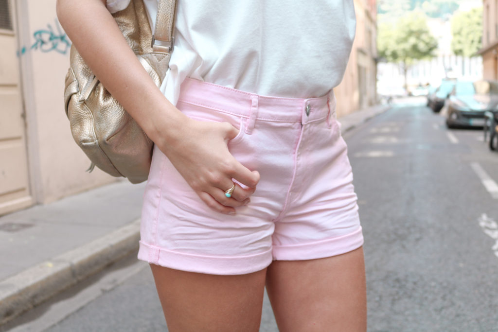 Short rose pastel H&M