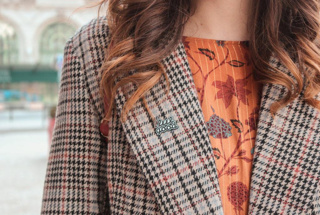 Manteau pied-de-poule, veste pied-de-poule, imprimé pied-de-poule, look automnal, manteau à motifs, manteau pull&bear - A Little Daisy Blog, Blog Lifestyle, Blog Lifestyle Lyon, Blog Beauté, Blog Beauté Lyon, Blog Mode, Blog Mode Lyon