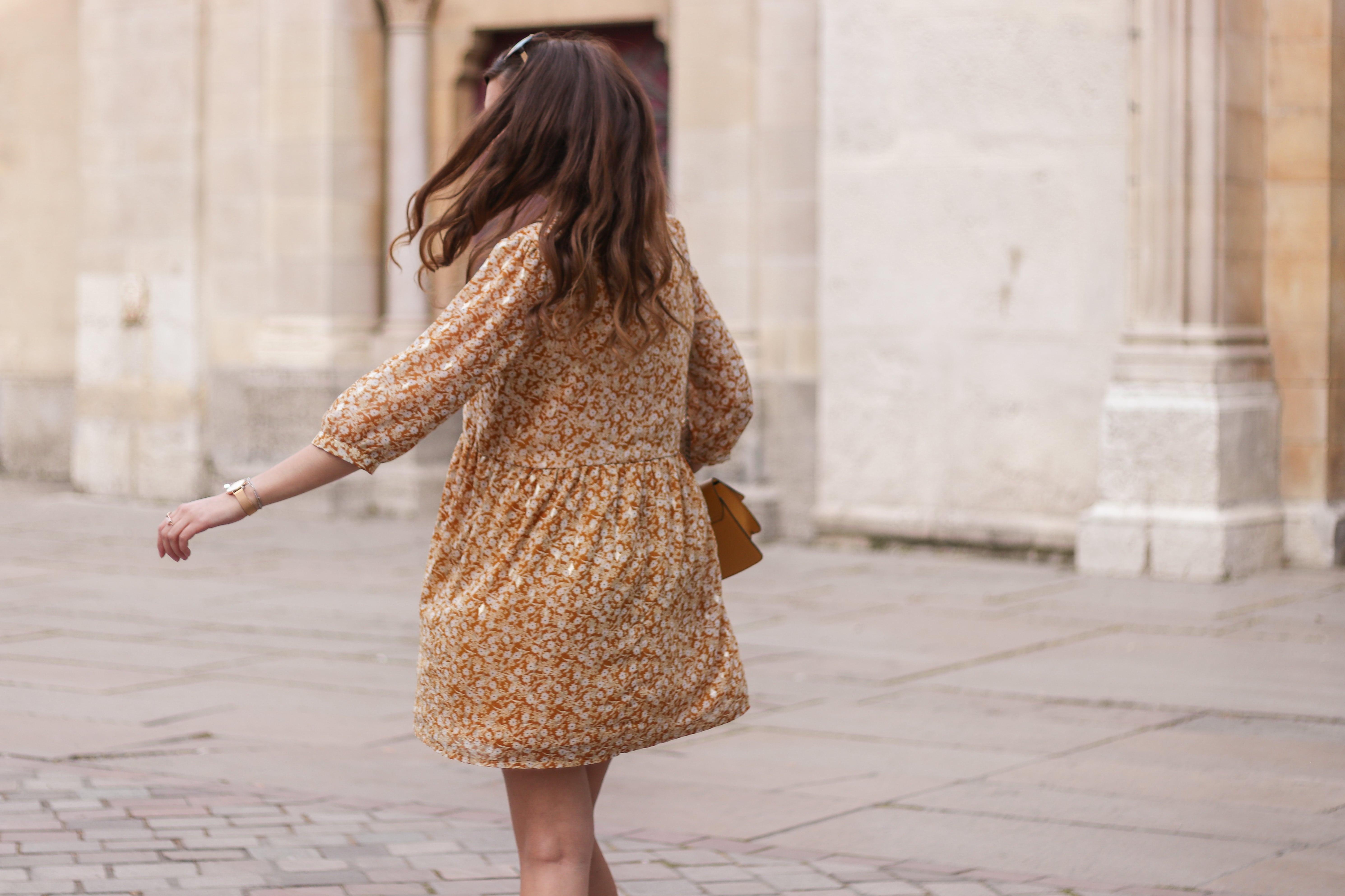 look robe jaune, robe jaune fleurie, robe jaune moutarde, robe jaune promod, robe jaune printemps, A Little Daisy Blog, Blog Lifestyle, Blog Lifestyle Lyon, Blog Beauté, Blog Beauté Lyon, Blog Mode, Blog Mode Lyon