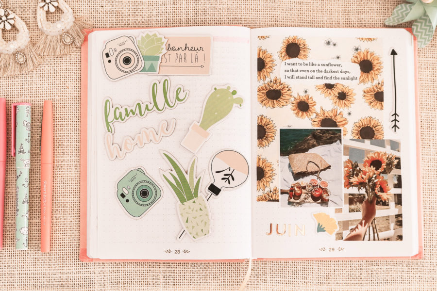 Mise en page bullet journal, page bullet journal, collage bullet journal, set up bullet journal, A Little Daisy Blog, Blog Lifestyle, Blog Lifestyle Lyon, Blog Beauté, Blog Beauté Lyon, Blog Voyages Lyon, Blog Mode Lyon